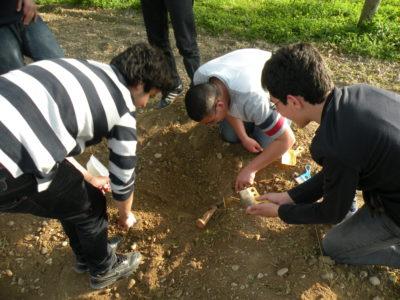 Simulazione di uno scavo archeologico